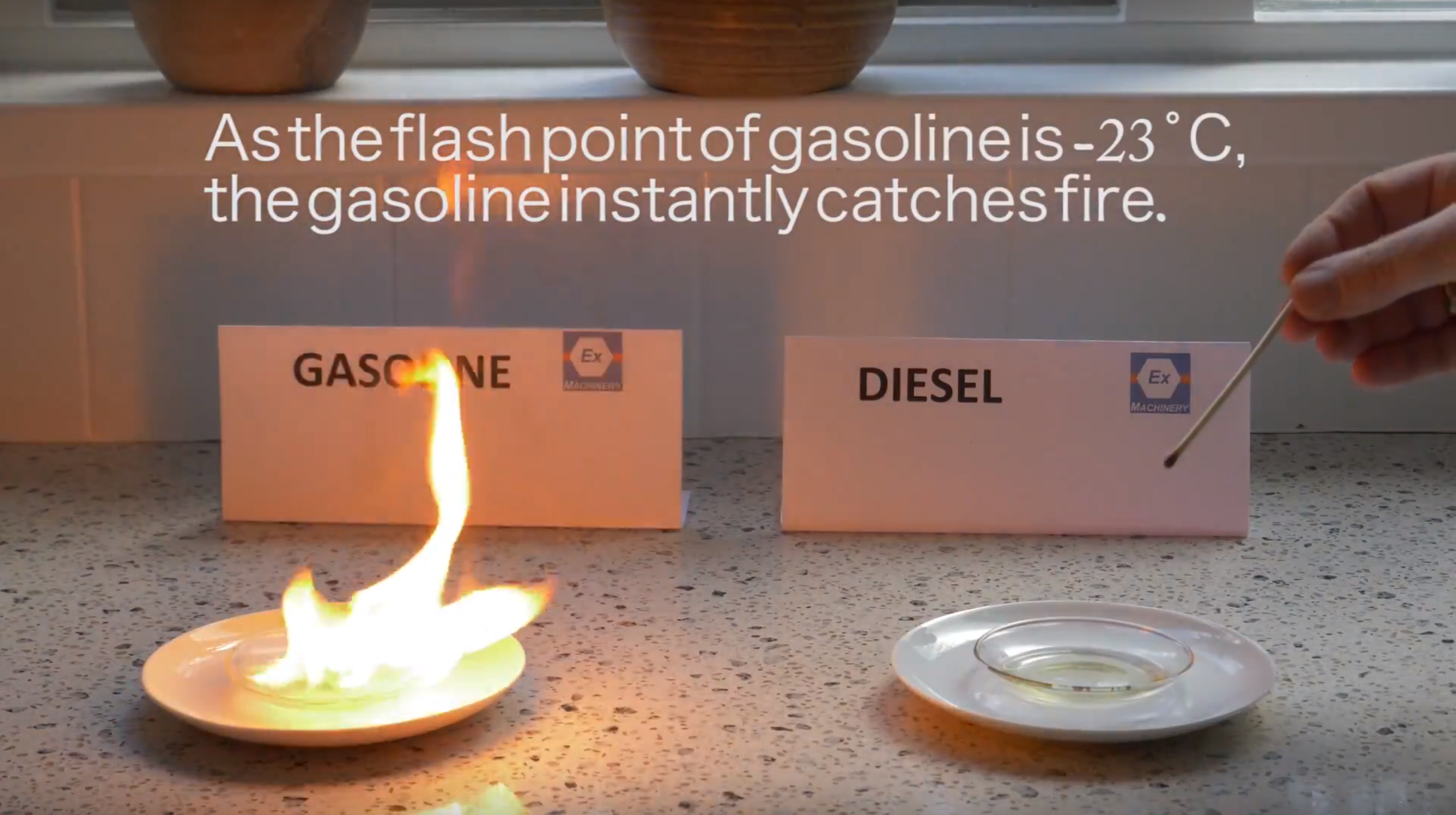 Flash point of Gasoline and diesel